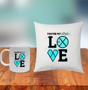 My Love Cushion and Mug