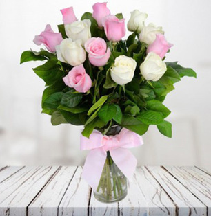 Pink and White Cuteness in Vase