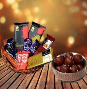 Gulab Jamun & Chocolate Basket
