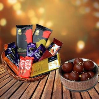 Gulab Jamun & Chocolate Basket