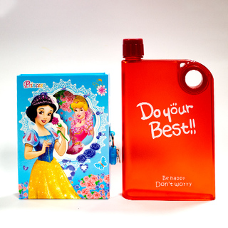 Princess Diary with Notebook bottle