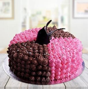Choco Strawberry Swirl Cake