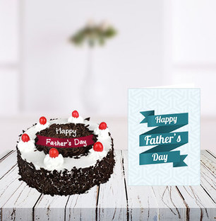 Fathers Day Blackforest Cake and Card
