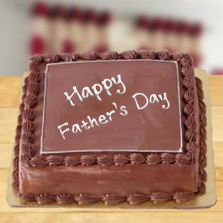 Fathers day Square Chocolate Cake