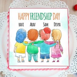 Friendship Day Photo Cake