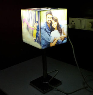 Personalized Cube Photo Lamp Shade