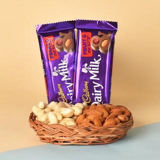 Dry Fruits Basket N Cadbury Diary Milk