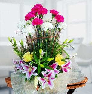 Carnations and Lilies arrangement