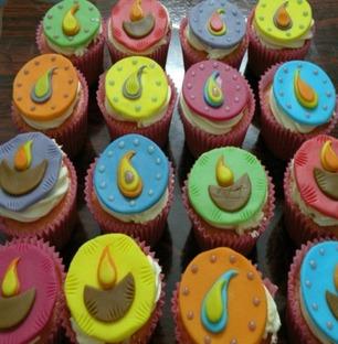 Diwali Cupcakes Vanilla