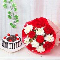 Carnation Rosy Combo
