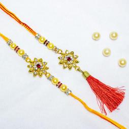 Pearly Golden flower Lumba Set