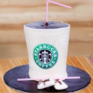 Starbucks Coffee Fondant Cake