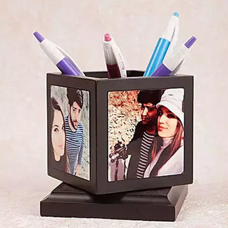 Personalised Rotating Pen Holder