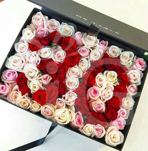 Exclusive Roses Box of Personalised Number