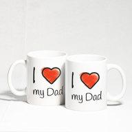 I Love You Dad Heart Handle Mug