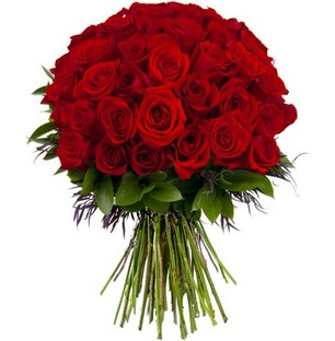 Valentine Big Red Roses Bouquet