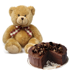 Teddy With Cake
