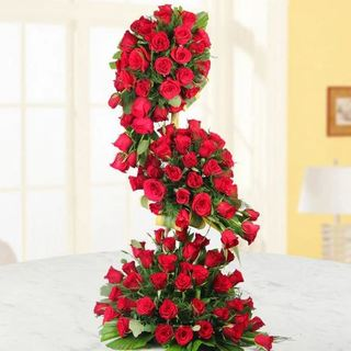 Red Roses Tall Arrangement