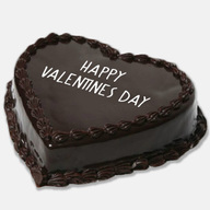 Happy Valentines Day Chocolate Cake