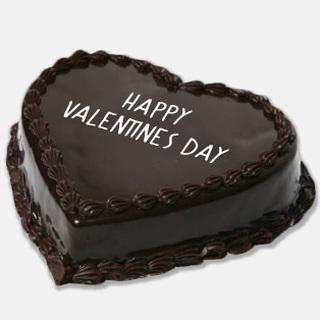 Happy Valentines Day Chocolate Cake