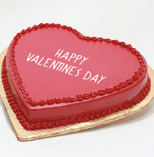 Happy Valentines Day Strawberry Cake