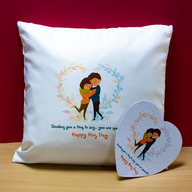 Hug Day Puzzle and Cushion