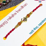 Exquisite OM Rudraksh Rakhi