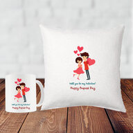 Propose Day Cushion and Mug