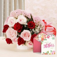 Mothers Day Cute Mix Flowers and Card