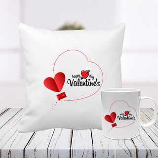 Exclusive Valentine Cushion and Mug