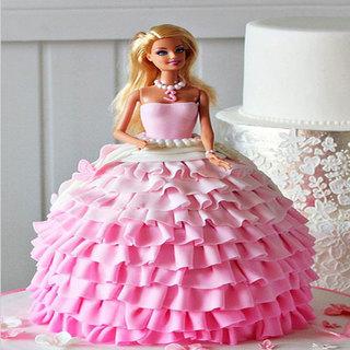Wavy Dress Barbie Cake