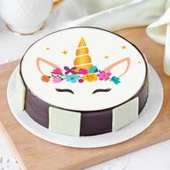 Cute Pinky Unicorn Photo Cake