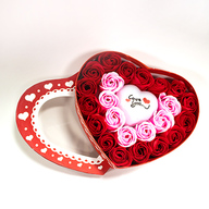 Roses in Heart Shape Box