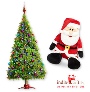 Christmas Tree & Santa Soft Toy
