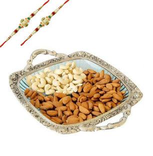 Almonds & Cashews with 2 Rakhis