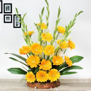 Yellow Gerbera Arrangement
