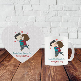 Kiss Day Puzzle and Mug
