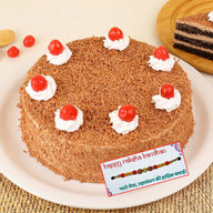 Orignal Black Forest Cake with Rakhi