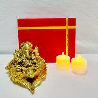 Ganesha Diya with LED Diyas