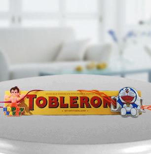 2 Kids Rakhi with Toblerone chocolates
