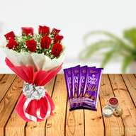 Dussehra Flower and Cadbury Chocolates Tikka Combo