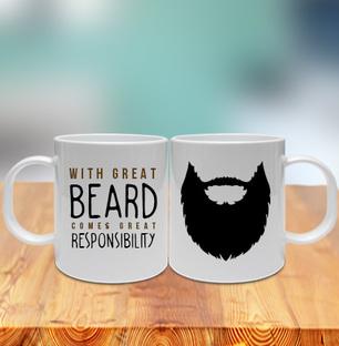 Great Beard Great Responsibility Mug