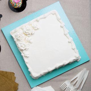 Yummy Square Vanilla Cream Cake