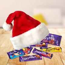 Santa Cap Full of Chocolates