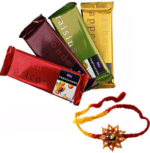 Cadbury Temptation with 2 Rakhis