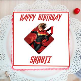 Captain Marvel Photo Cake