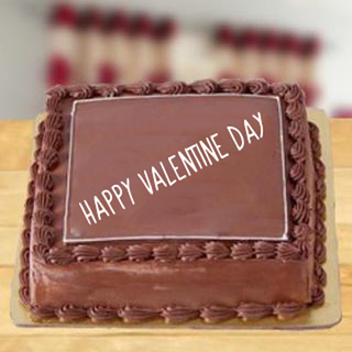 Valentine Square Chocolate Cake