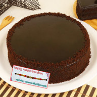 Dark Chocolate Cake with Rakhi