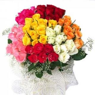 Graceful Mixed Roses Bouquet Large