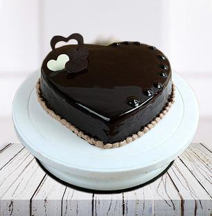 Heart Chocolate Truffle Cake